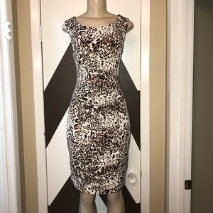 EUC CALVIN KLEIN FORM FITTED mesh lining dress.